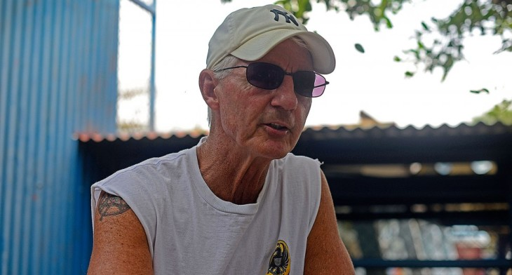 "David Strecker, aka ""Cuba Dave,"" speaks to The Tico Times from La Reforma prison in Alajuela, Costa Rica, on March 18, 2016.  Lindsay Fendt/The Tico Times"