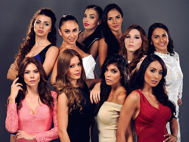 The Miss Costa Rica 2016 finalists.